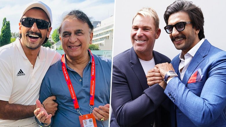 83 Star Ranveer Singh's Latest Pictures With Cricketing Legends Sunil Gavaskar and Shane Warne Will Make Any Sports Fan Jealous!
