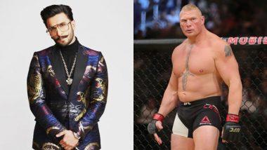 Ranveer Singh Lands Himself in Trouble with WWE Star Brock Lesner – Read Details