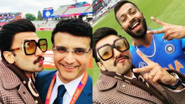 CWC 2019: From Saurav Ganguly to Hardik Pandya, Ranveer Singh Shares Pictures with Star Cricketers Like a True Fanboy