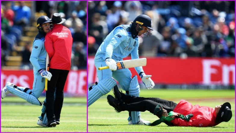 Jason Roy Collides With Umpire While Celebrating his Century During ENG vs BAN CWC 2019 Match, Watch Video