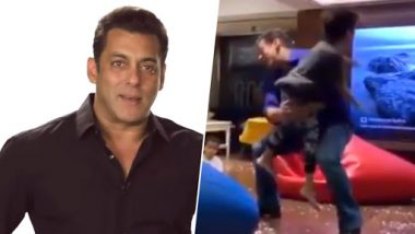 Sohail Khan's Son Yohan's 'Slow Motion' Stunt With His Uncle Salman Khan Is the Most Adorable Act of the Day – Watch Video