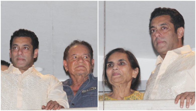 Salman Khan Makes a Special Eid Appearance with His Father and Mother – See Pics
