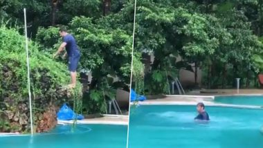 Salman Khan's Black Flip at a Swimming Pool Shows How Fit He Is – Watch Video