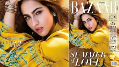 Sara Ali Khan Looks Refreshing in Mustard Yellow on Harper Bazaar Cover