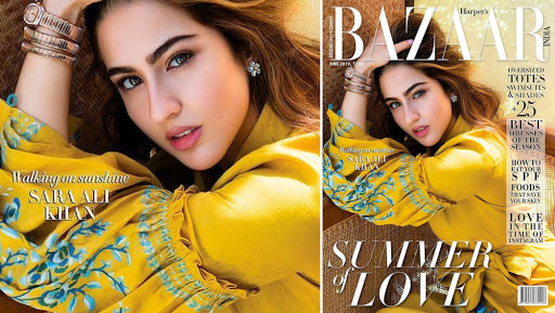 Sara Ali Khan Looks Refreshing in Mustard Yellow on Harper Bazaar Cover