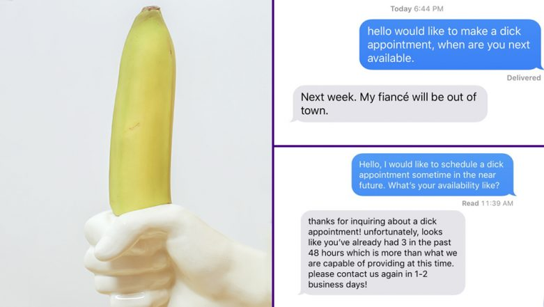 'Dick Appointment' Text Challenge Is Going Viral on Twitter! Check Out Funny Responses From the Men