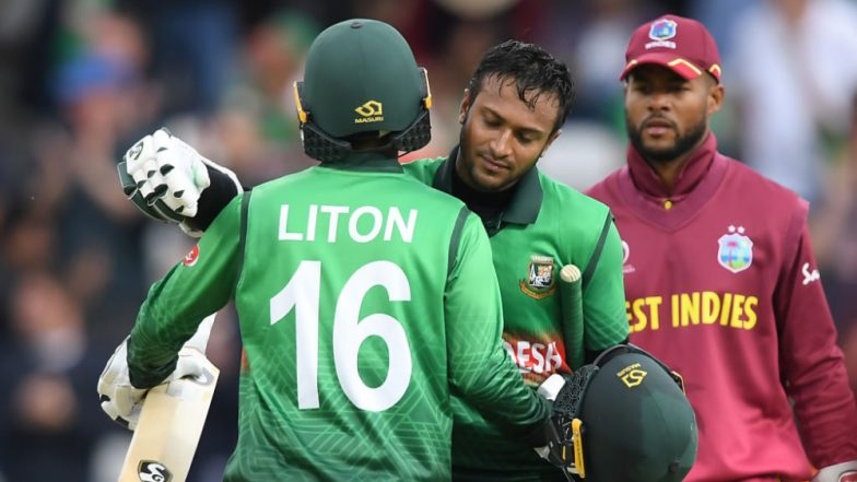 West Indies vs Bangladesh, ICC CWC 2019 Stat Highlights: Shakib Al Hasan, Litton Das Star As BAN Register Their First World Cup Win Over Windies