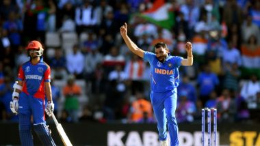 Mohammad Shami Snaps a Hat-Trick During IND vs AFG, CWC 2019 Match; Internet Users Congratulate The Indian Fast Bowler