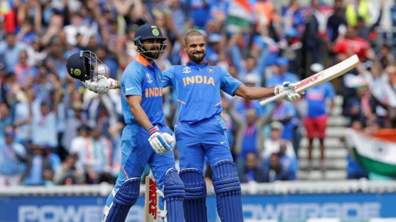 Shikhar Dhawan Scores Century During IND vs AUS ICC CWC 2019 Match at The Oval, Becomes Indian Batsman With Most ODI Centuries in England