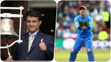 Sourav Ganguly Backs MS Dhoni After Sachin Tendulkar's Criticism; Says, 'He Will Come Back Stronger'