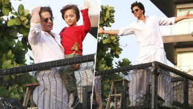 Shah Rukh Khan Makes an Eid Appearance With Son Abram Khan