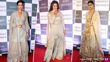 Divyanka Tripathi, Mouni Roy, Karishma Tanna Make Heads Turn With Their Sartorial Picks at Baba Siddique's Iftar Party - View Pics