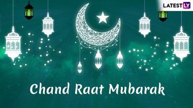 Chand Raat Mubarak 2019 Greetings in Urdu: Eid al-Fitr WhatsApp Stickers, GIF Images, Shayari, SMS, Status to Wish Eid Mubarak After Moon Sighting