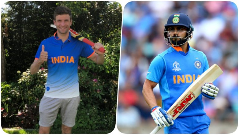 Thomas Muller Sends Good Wishes to Virat Kohli & Team India Ahead of IND vs SA Cricket World Cup 2019 Match (See Pic)