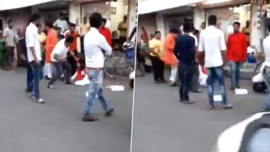 BJP MLA Balram Thawani Caught on Camera Kicking Woman, Says He Acted in Self-Defence After Video Goes Viral
