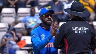 Virat Kohli Argues With Umpire Aleem Dar Over DRS During IND vs AFG, CWC 2019 Tie; Netizens Circulate Funny Memes on Social Media