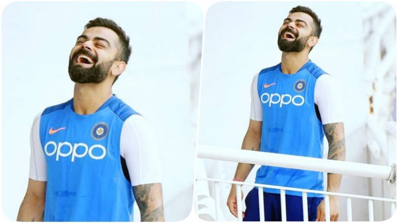 Virat Kohli Looks at Ease Ahead of CWC 2019 Game With South Africa, Anushka Sharma has a Very Cute Response