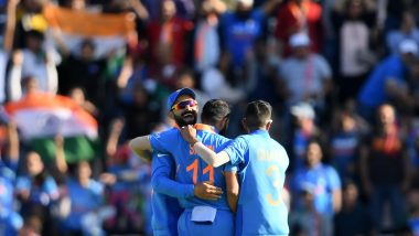 Virat Kohli and Mohammed Shami Mock Sheldon Cottrell's Signature Salute Celebration After IND vs WI, CWC 2019 Match (Watch Video)