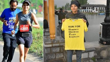 Ultra-Runner Sufia Khan Wants to Run from Kashmir to Kanyakumari for 'Hope and Humanity', Reaches Thane