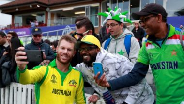 David Warner Overwhelmed with the Reception of Pakistani Fans During Pak vs Aus, CWC 2019 Tie