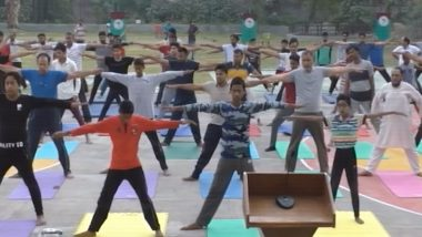International Day of Yoga 2019: Seven Day Yoga Camp Underway in Aligarh Muslim University