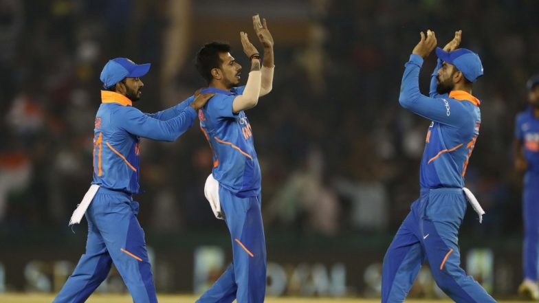 Yuzvendra Chahal Snaps Four Wickets; Joins Elite List Featuring Anil Kumble During IND vs SA, CWC 2019 Tie (Watch Video)