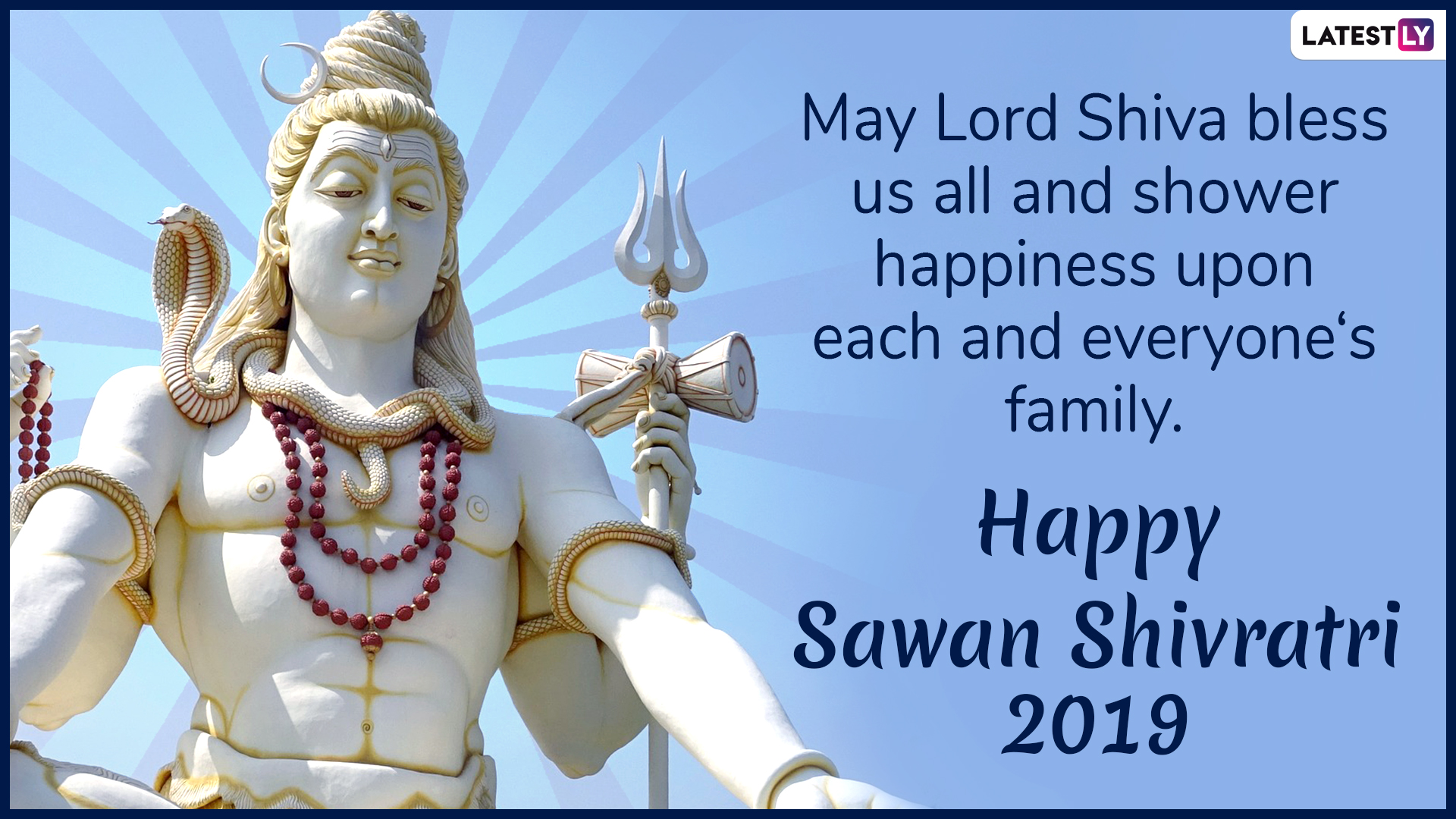 Sawan Shivratri 2019 Wishes and Messages: Facebook Greetings, Lord