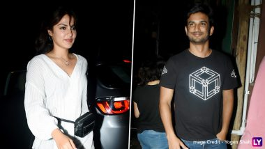 Rumoured Couple Sushant Singh Rajput and Rhea Chakraborty Spotted Together as They Head Out for Dinner Date – View Pics