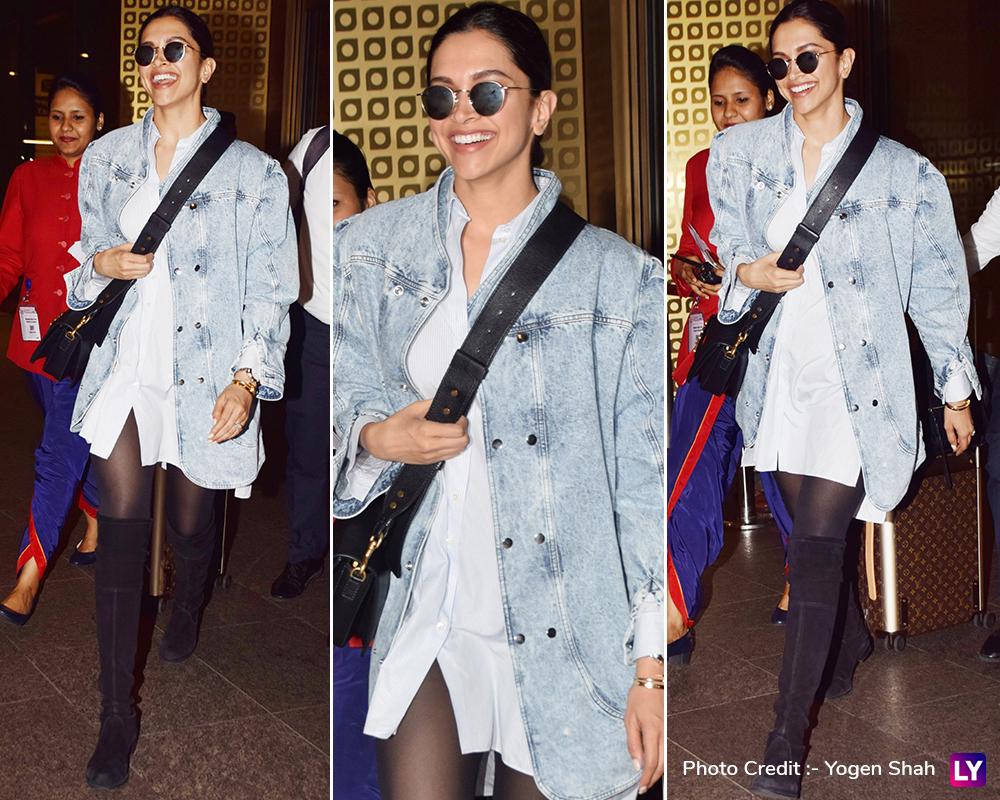Deepika Padukone returns to Mumbai.