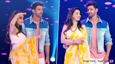 Super 30 Star Hrithik Roshan and Madhuri Dixit Nene Match Steps on Dance Deewane 2 and We Can't Wait to See the Duo Burn the Dance Floor Together - See Pics