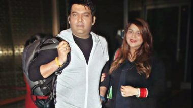 Kapil Sharma and His Pregnant Wife Ginni Chatrath Jet Off to Canada for Babymoon, Get Snapped at the Airport (View Pics)