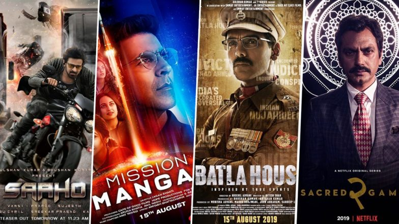 Saaho:Prabhas-Shraddha Kapoor's Film is Fans' Number 1Choice Over Mission Mangal, Batla House and Sacred Games 2 on August 15