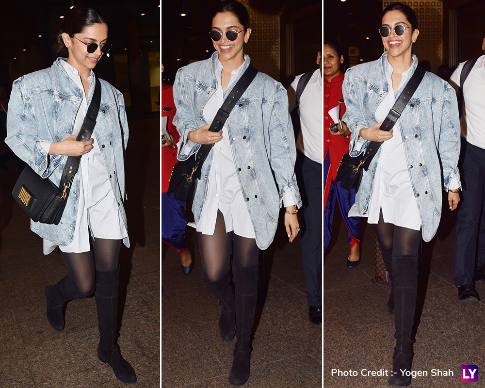Deepika Padukone spotted at the airport.
