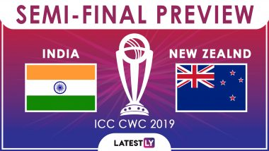 India vs New Zealand, ICC CWC 2019 Semi-Final Match Preview: All Eyes On Overhead Conditions As IND Play NZ at Old Trafford