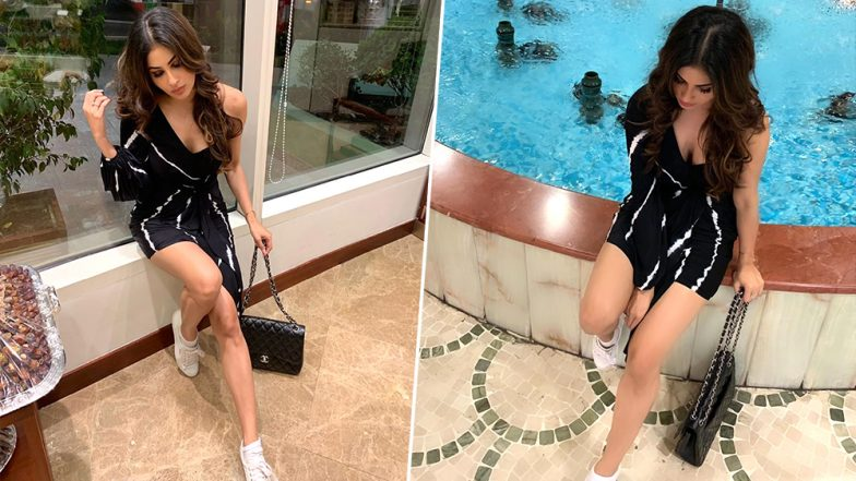 Romeo Akbar Walter Actress Mouni Roy Puts Her Long Legs on Display in This Little Black Dress (View Pics)