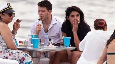 Priyanka Chopra Seen Smoking With Nick Jonas and Mother Madhu Chopra During Her Miami Vacation; Fans Remind PeeCee of Her So-Called 'Asthma' – Read Tweets