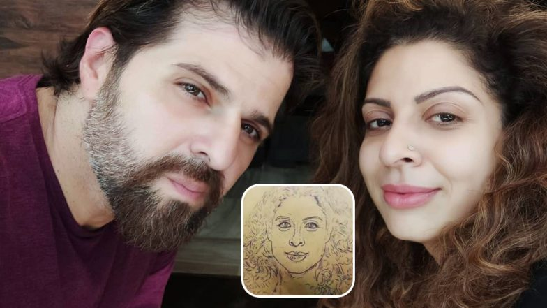 Bakhhtyar Irani Goes a Step Ahead in Flaunting His Love for Wife Tannaz, Gets Her Face Inked on His Back (Watch BTS Video)