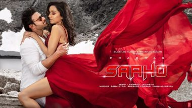 Enni Soni Song Still: Prabhas and Shraddha Kapoor's Romantic Pose With a Breathtaking View in Saaho's Second Track Is Simply Beautiful