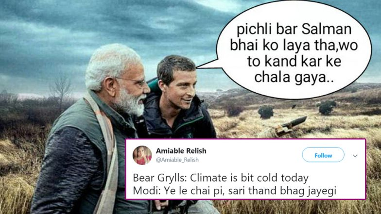 PM Narendra Modi to Feature on Bear Grylls' Man vs Wild on Discovery India; Funny Memes and Jokes Take Over Twitter