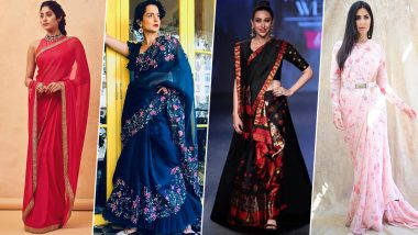 Hariyali Teej 2019 Style Guide: From Saree Draping to Styling Tips, Janhvi Kapoor, Katrina Kaif and Others Show You How to Deck Up for This Special Day (View Pics)