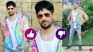 Cop or Drop: Sidharth Malhotra Dons a Vibrant, Trippy Jacket for Jabariya Jodi Promotions