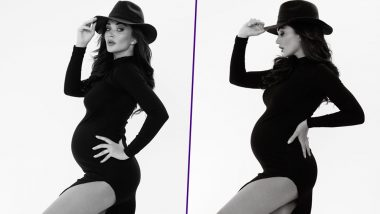 Amy Jackson Shows off Her Baby Bump in Style in this Monochrome Maternity Photoshoot - View Pics