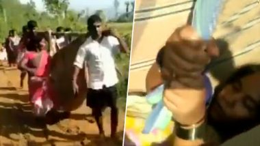 Medical Apathy in Andhra Pradesh: Pregnant Woman Taken to Hospital on Makeshift Stretcher, Watch Video