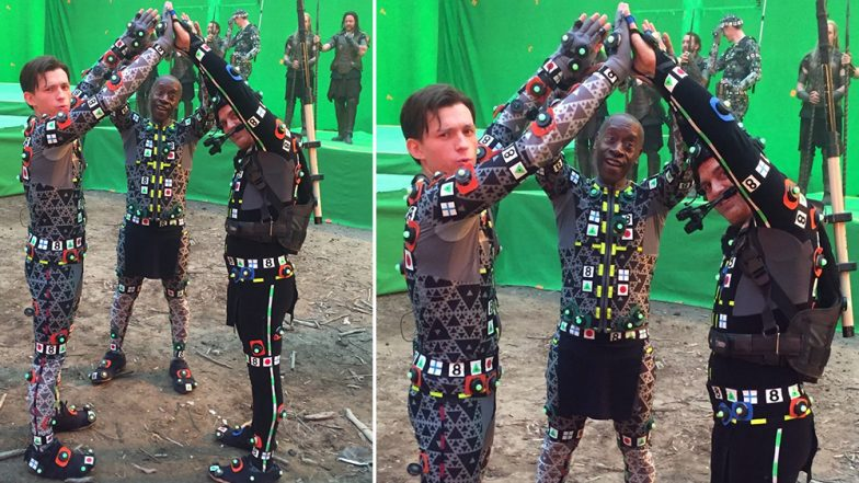Tom Holland Responds With the Perfect 'Wrong Caption' to Mark Ruffalo's Funny Avengers: Endgame BTS Still