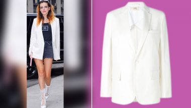 Cop or Drop: Do You Fancy Bella Thorne in This Double-Breasted White Blazer?