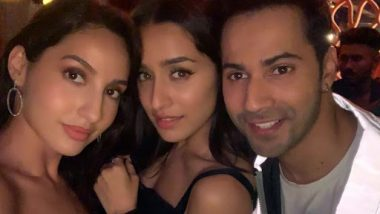 Varun Dhawan, Shraddha Kapoor and Nora Fatehi Chill Out Together in Street Dancer 3D Wrap-Up Party – View Pic