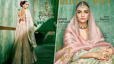 Sonam Kapoor Takes You Back in Time to Revisit the Old Glam World Through her New Photoshoot for Bridal Asia (View Pics)