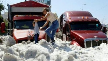 Climate Change in Mexico: Freak Hail Storm Strikes Mexican City of Guadalajara (Watch Video)