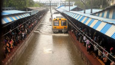 Mumbai Local Train Services Resume Partially on Central And Harbour Lines as Heavy Rains Take a Break
