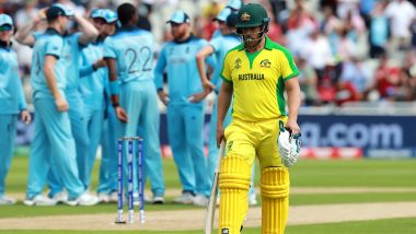 Aaron Finch Becomes First Captain to Be Out for Golden Duck in World Cup Knockouts; Registers Unfortunate Record During AUS vs ENG, CWC 2019, Semi-Final Game